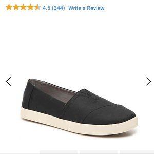 TOMS Avalon Sneaker - Black - 7.5